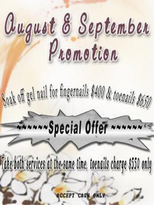 Service Promotion Aug to Sep 2009