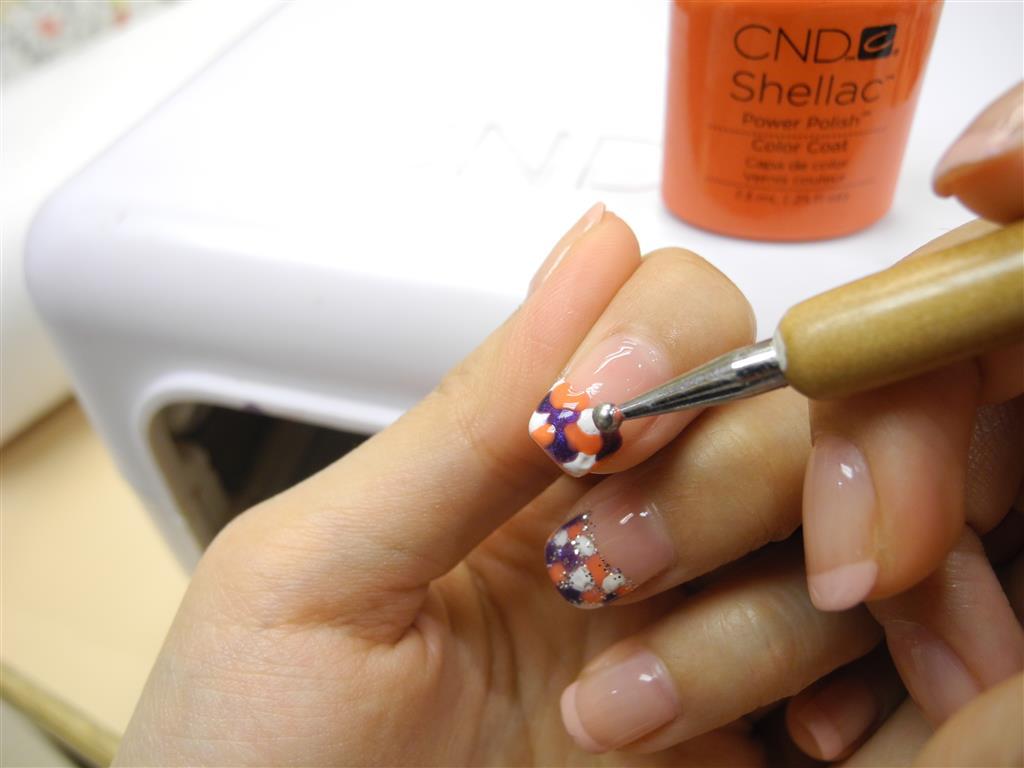 Simple Nail Art Design By Cnd Shellac Soak Off Gel System Rainbow