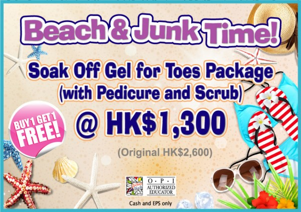 Soak Off Gel for Toes Package (with Pedicure and Scrub) - Rainbow Nails