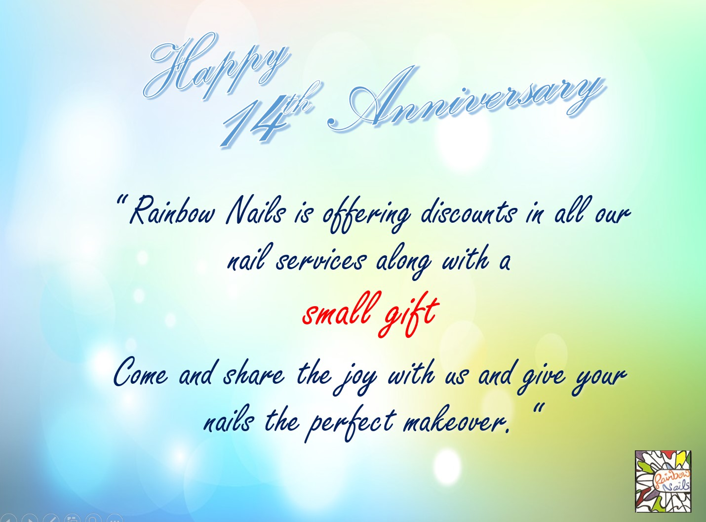 Rainbow Nails 14th Anniversary Promotion