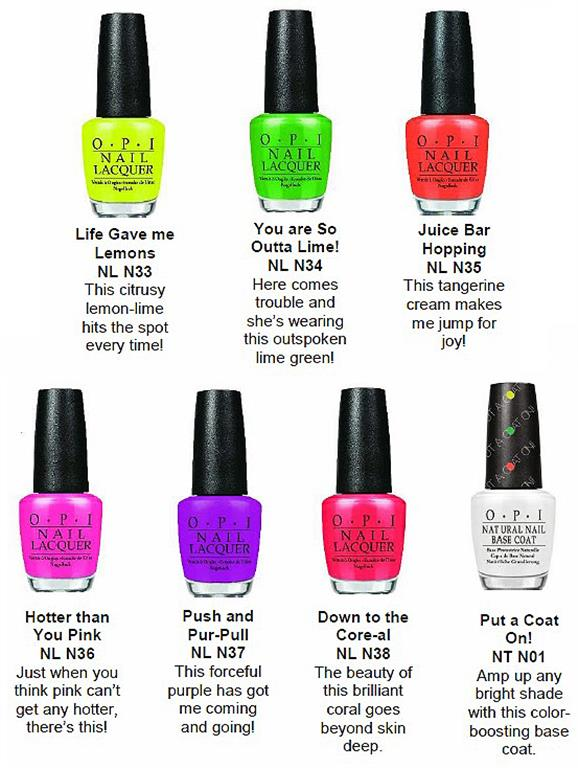 Create your fashionable nail art! The new OPI 6 Neon ...