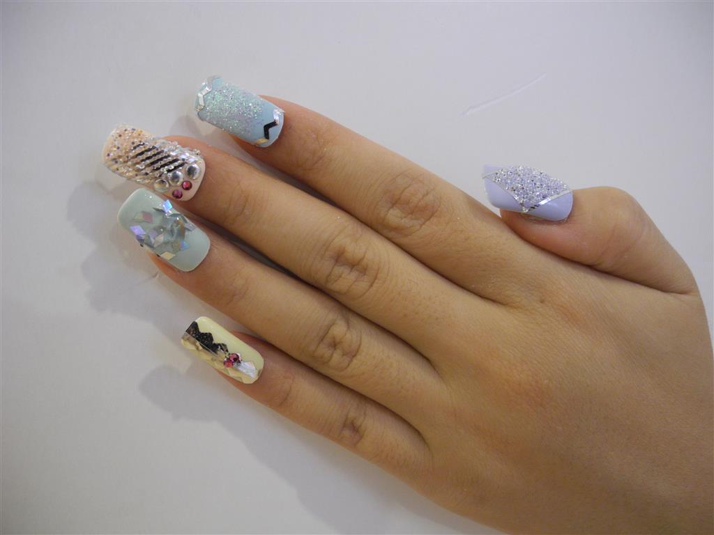 Light Hormanic] SWAROVSKI CRYSTAL PIXIE - Cute Mood | Rainbow Nails ...