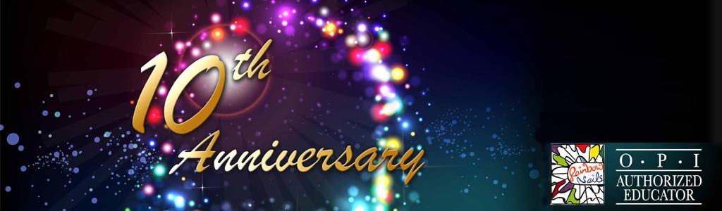 Celebrating 10 Years Anniversary of Rainbow Nails