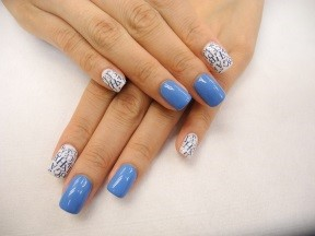 Rainbow nails nail art gallery blue prinsesfo Images